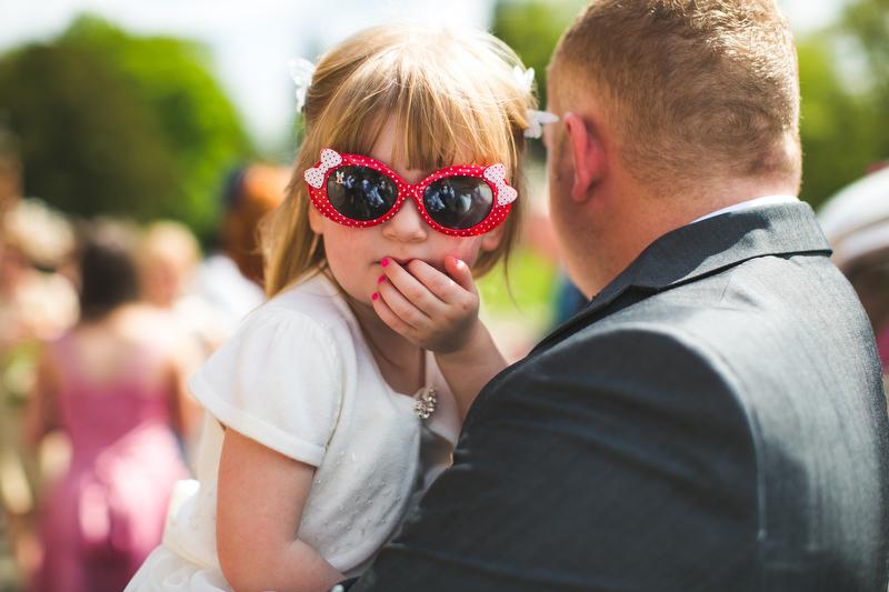 flower girl in shades