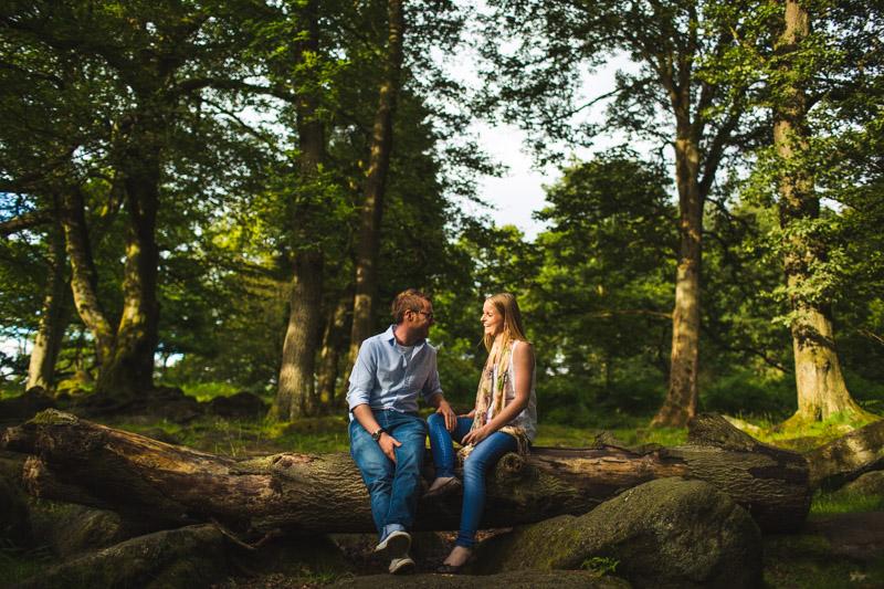 Sheffield photographer Woodland engagement