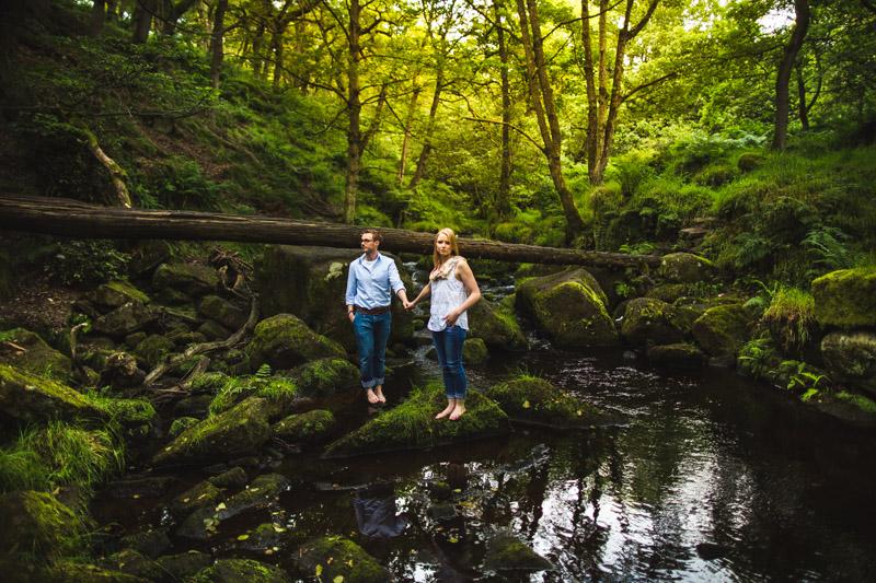 Sheffield wedding photographer Woodland engagement