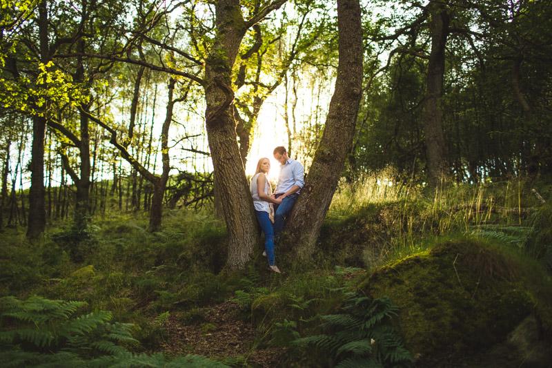 amazing wedding photos Woodland engagement