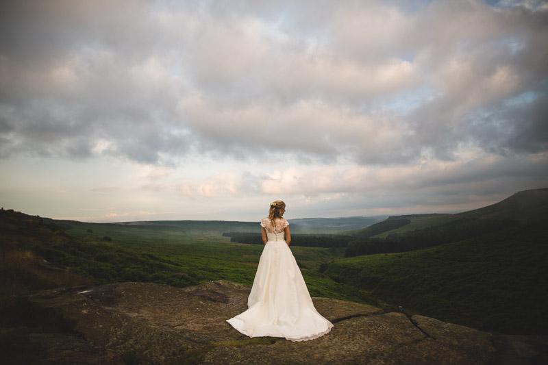 beautiful wedding dress Whirlow Farm Wedding