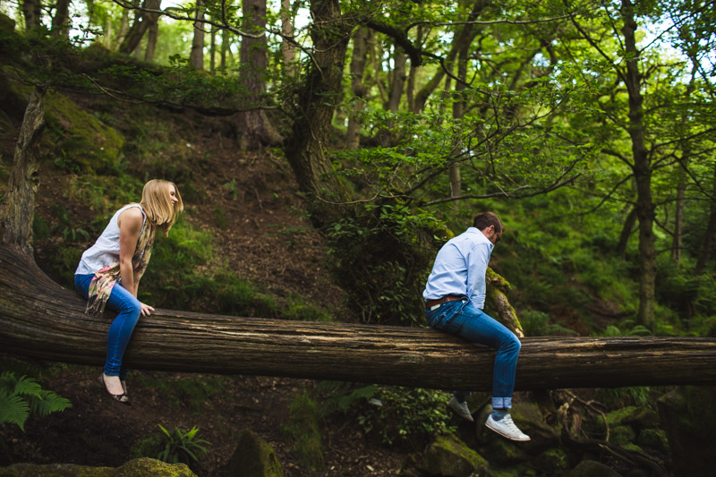 quirky engagements Woodland engagement