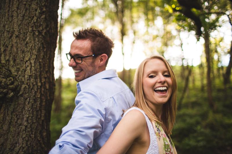wedding photography in Sheffield Woodland engagement