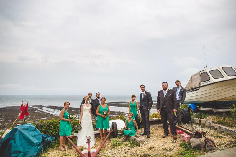quirky bridal party photos A Robin Hoods Bay Wedding