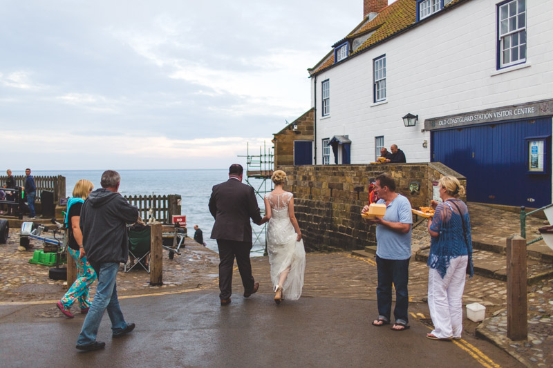 reportage yorkshire wedding photographer A Robin Hoods Bay Wedding