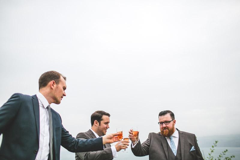 the groomsmen A Robin Hoods Bay Wedding