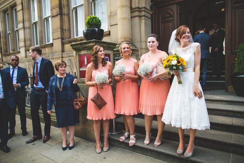 short skirt bridesmaids
