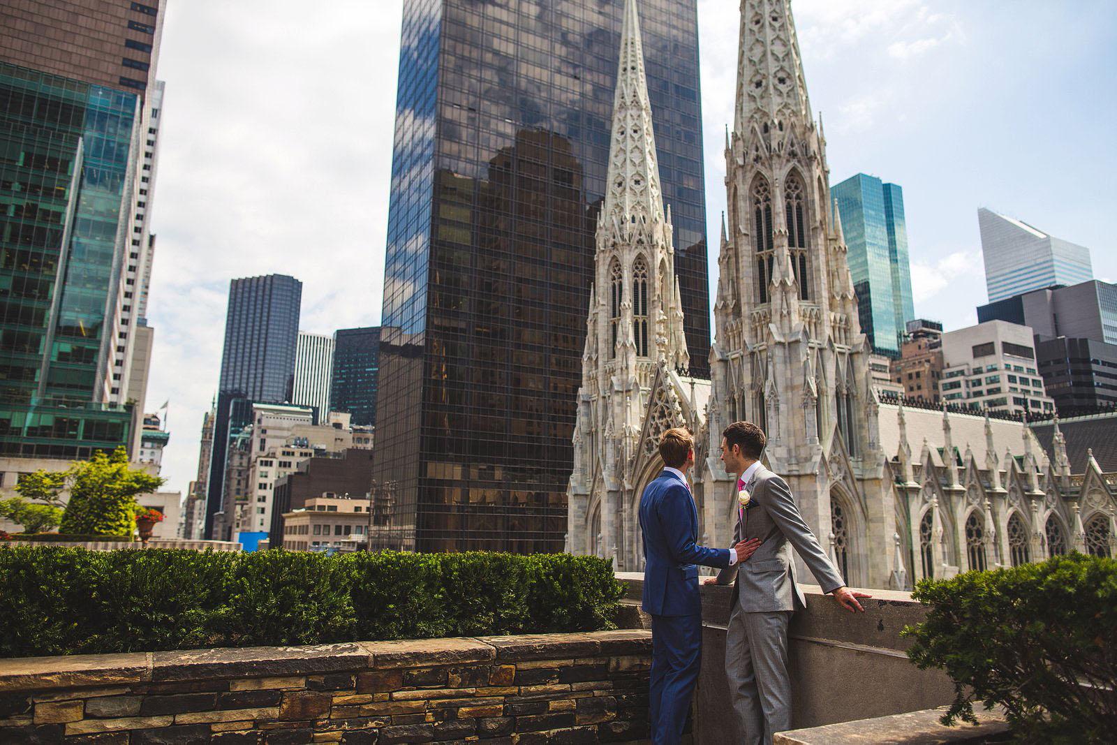 Rockefeller Center Wedding In New York City