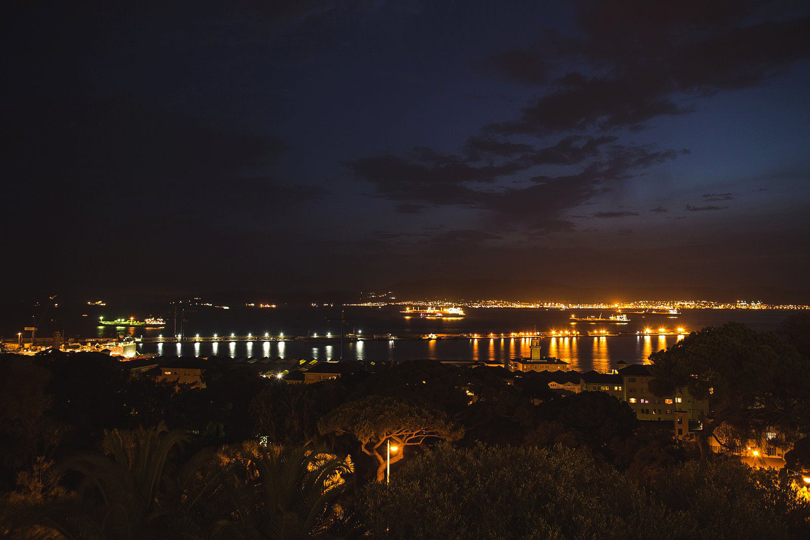 Spain at night