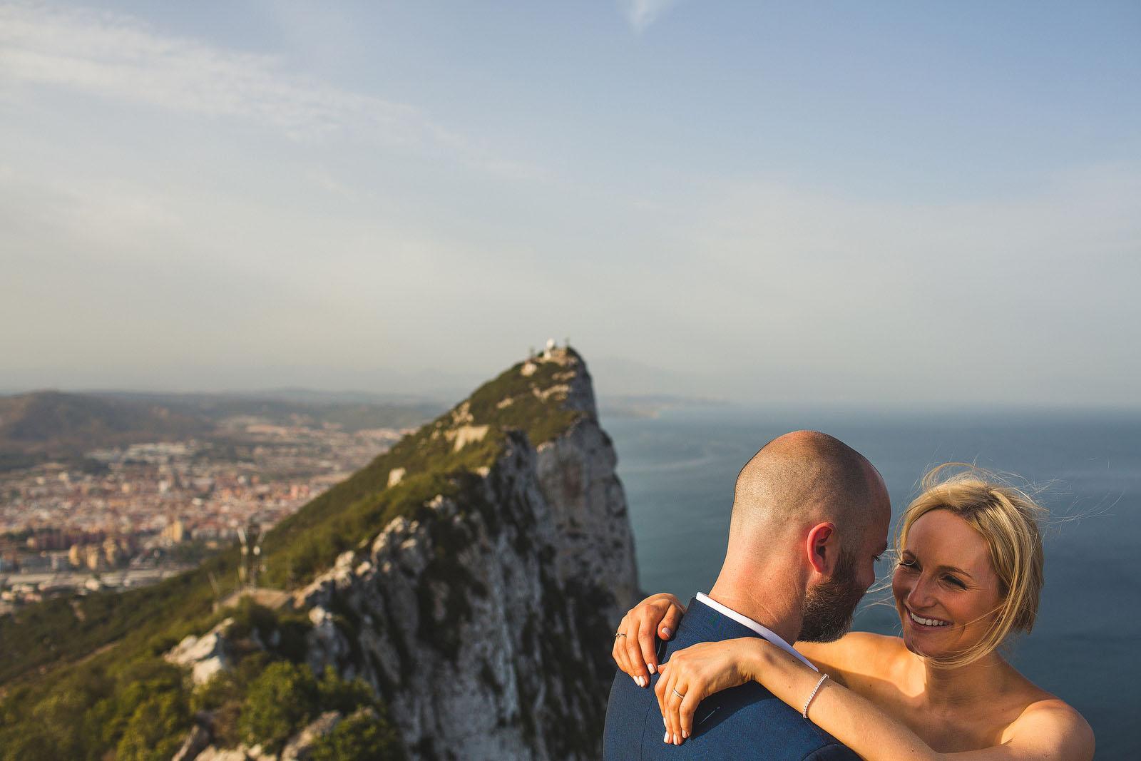 Rock of Gibraltar wedding1