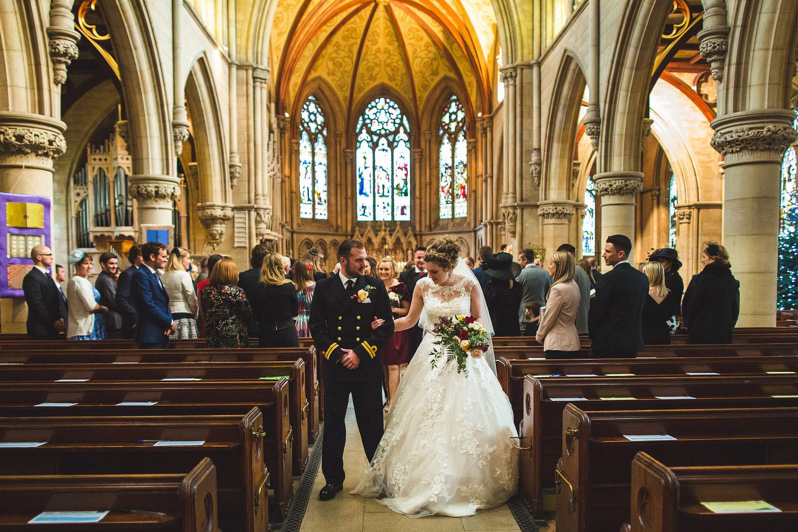 stepping on wedding dress1