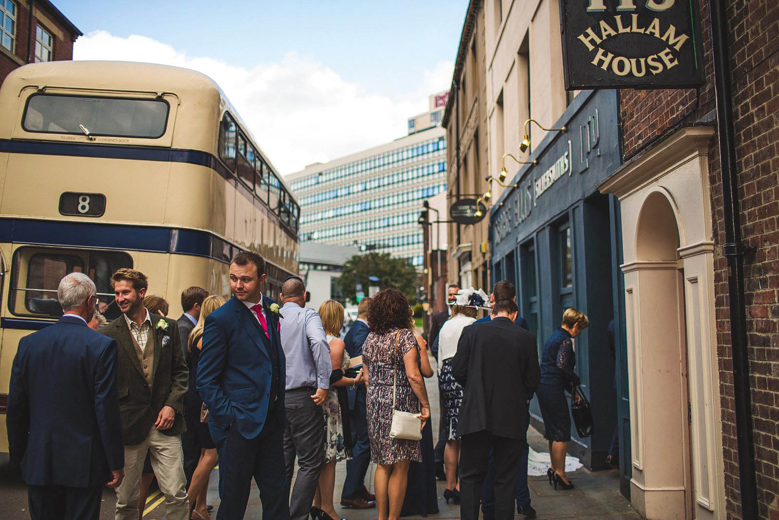 vintage wedding bus in Sheffield