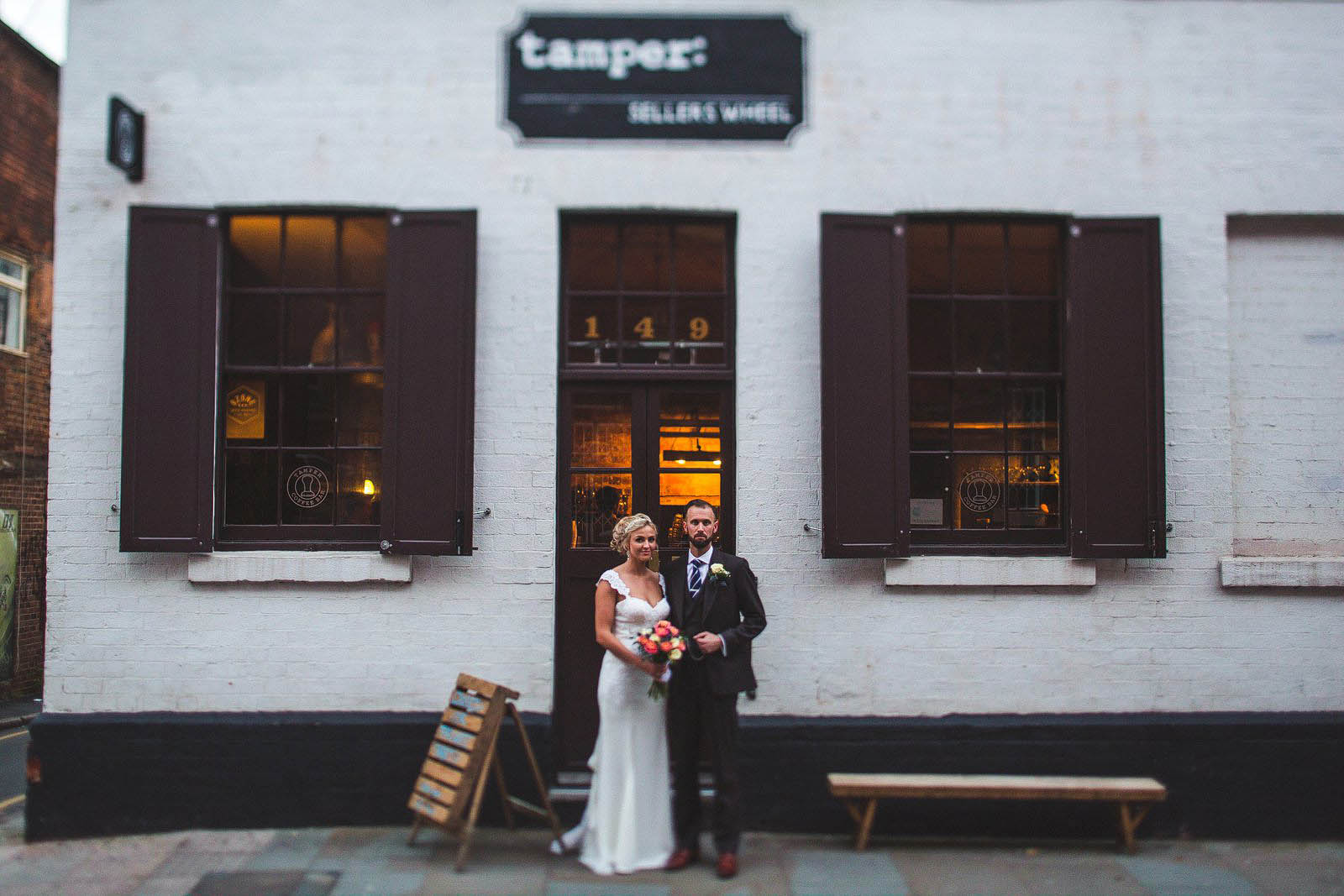 quirky city centre wedding